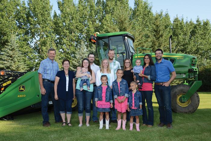 Alberta farm family, the Stamps