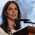 Julie Borlaug, pictured at a symposium in Washington last year, says farmers need to reach out to consumers.