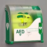 Automated External Defibrillator portable electronic life saver.