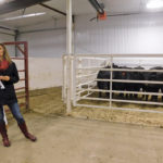 Susan Markus, beef specialist with Alberta Agriculture, is collaborating with the first livestock research class at Lakeland College on a project on feed efficiency in cattle.