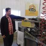Richard Ozero of Good Morning Honey shows some of his equipment during a media event aimed at encouraging more producers to participate in Alberta Open Farm Days.
