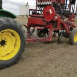 Farming Smarter deep banded immobile nutrients at a depth of six inches using a seed drill with a basic stealth opener system.
