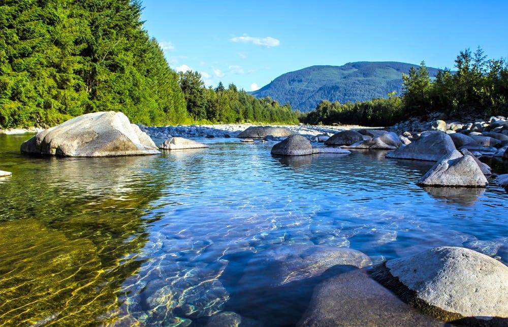 Fraser River in British Columbia.