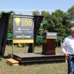 The first farmer to crack the 100 bushel barrier for canola will win the use of a complete fleet of John Deere equipment in a new contest sponsored by Agri-Trend, John Deere and Glacier Farm Media.  Photo: Laura Rance