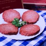 Irradiated ground beef, such as these burger patties, is expected to have a lower potential presence of harmful pathogens such as E. coli. (Stephen Ausmus photo courtesy ARS/USDA)