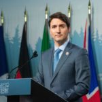Prime Minister Justin Trudeau speaks at a press conference June 9, 2018 at the G7 summit in Charlevoix, Que. (G7.gc.ca via Flickr)