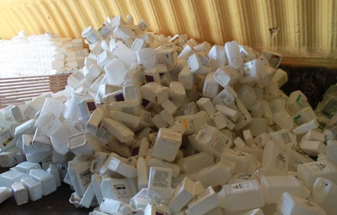 This is just a tiny fraction of the 126 million plastic jugs that have been collected by Cleanfarms and recycled.