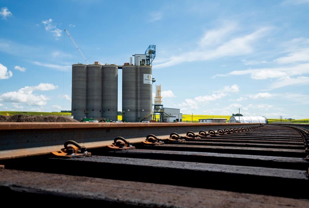 GrainsConnect Canada's Huxley grain terminal.