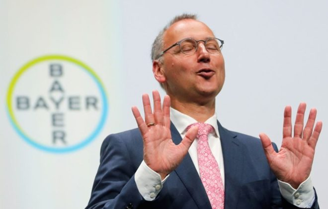 Bayer CEO Werner Baumann speaks on May 25, 2018 during the company's annual shareholders' meeting in Bonn. (File photo: Reuters/Wolfgang Rattay)