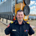 """It's not a matter of if your grain dryer catches on fire — it's a matter of when,"" says Richard Hoppins, Trochu's fire chief and a producer himself."