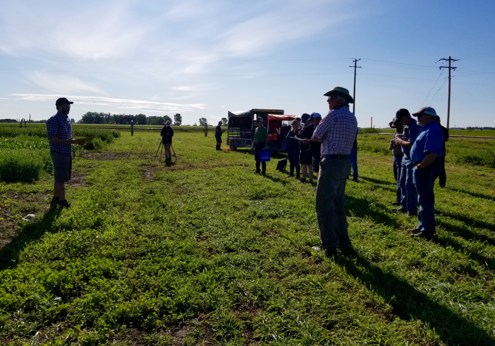 Farming Smarter's field day in early July had an unusual aspect — attendees — who heard from several speakers, including researcher Lewis Baarda.