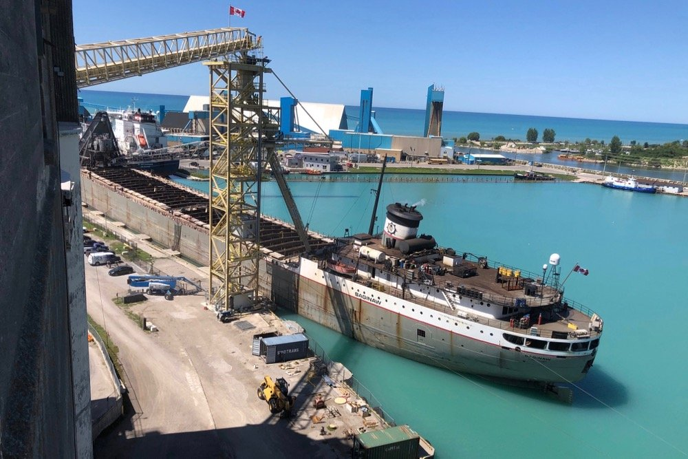 A vessel loading at Parrish and Heimbecker's Goderich, Ont. grain terminal. (Photo courtesy P+H)