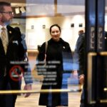 Huawei chief financial officer Meng Wanzhou leaves B.C. Supreme Court on a lunch break during her extradition hearing in Vancouver on Jan. 22, 2020. (Photo: Reuters/Jennifer Gauthier)