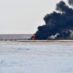 This CP derailment in February near Guernsey — the second in two months near the Saskatchewan hamlet — prompted the federal transport minister to restrict the speed of trains carrying crude oil or liquid petroleum gas. Those rules, which could have impacted movement of other rail freight, have been dialled back under certain conditions.