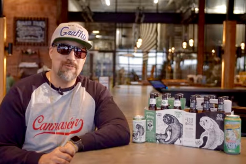 U.S. rapper B-Real (Cypress Hill, Prophets of Rage) has collaborated with Atlanta-based SweetWater Brewing on a variety of its '420' brand of cannabis-scented beer. (Video screengrab from Sweetwaterbrew.com via YouTube)