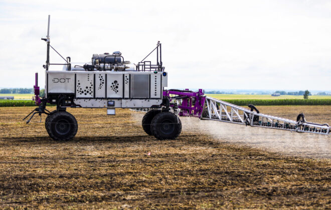It's still years away but Olds College officials say they can see a day when linking their self-driving DOT power platform to sensors and algorithms will take farming to an entirely new level. Olds College